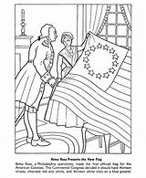 Flag Coloring Pages American Printables Usa Betsy Ross Printable Sheets Continental Congress Holidays States United June sketch template
