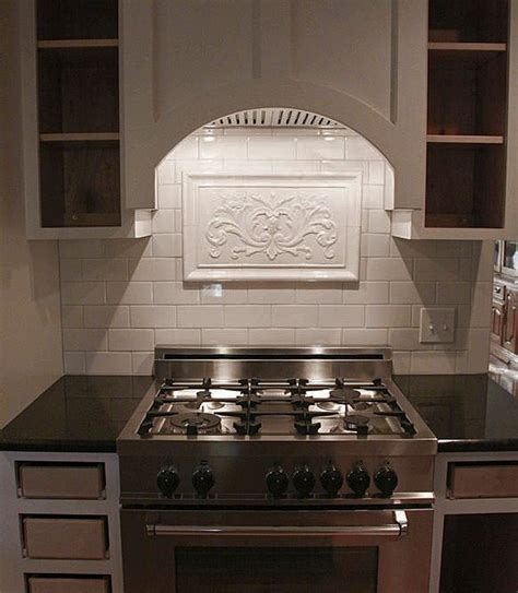 kitchen backsplash inserts 16 best relief tile murals for your kitchen backsplash 2223