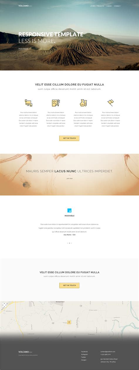 foundation templates volcano html5 responsive zurb foundation template