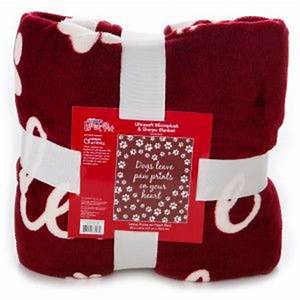 luv a pettm quotdogs leave paw prints on your heartquot blanket With petsmart dog blankets