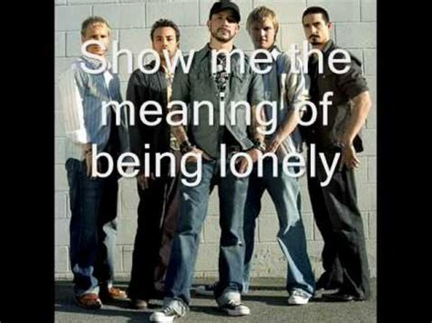 Show Me The Meaning Of Being Lonely  Backstreet Boys Lyrics Youtube