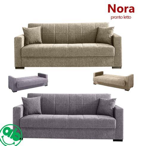 divani e poltrone letto divano 3 posti pronto letto in tessuto con contenitore e