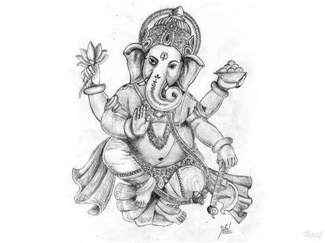 lord ganesha pencil art photo