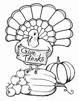 Coloring Thanksgiving Happy Printable Turkey Dinner Cards Adult sketch template