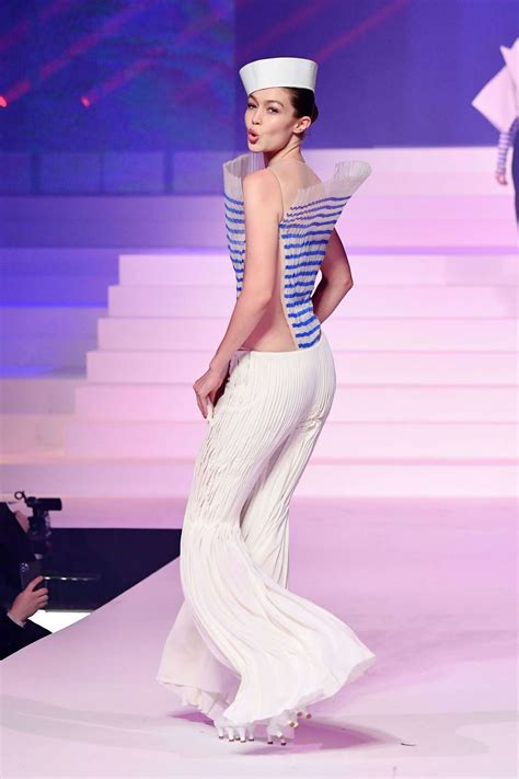Gigi Hadid at Jean-Paul Gaultier Haute Couture S/S 2020 ...