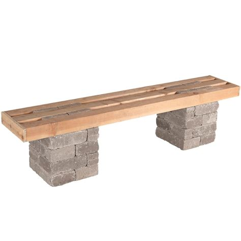 home depot garden table pavestone rumblestone 72 in x 17 5 in concrete garden