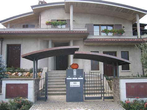 tettoia moderna tettoia in ferro e rame fferrarini rsm