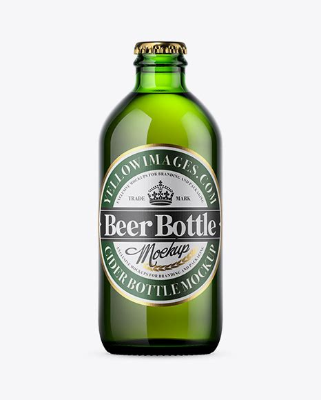Free beer bottle mockup is now available. Amber Beer Bottle Mockup - Amber Bottle With Dark Beer ...