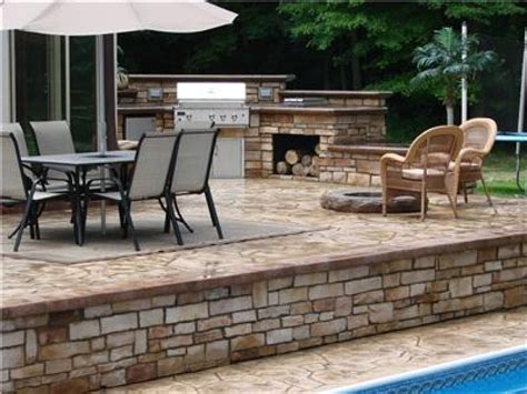 cement deck ideas concrete deck pictures