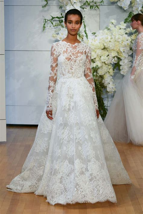 monique lhuillier spring  wedding dresses weddingbells