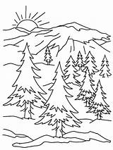 Sunrise Drawing Coloring Getdrawings sketch template