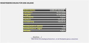 Rendite Berechnen Excel : excel zinsberechnung ~ Themetempest.com Abrechnung