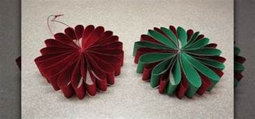 how to craft a simple folded paper flower ornament for christmas 171 christmas ideas wonderhowto