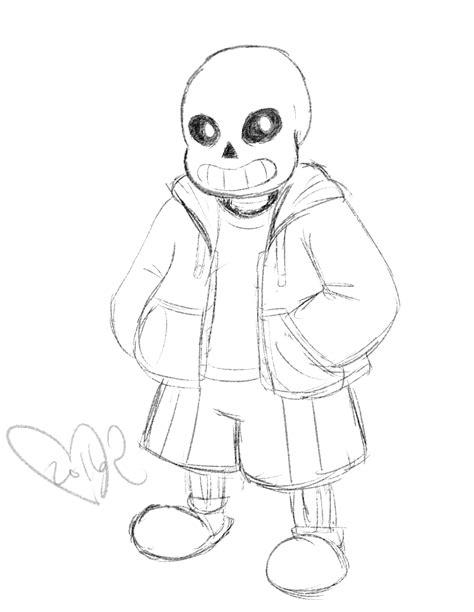 sans  skeleton sketch  superbecky  deviantart