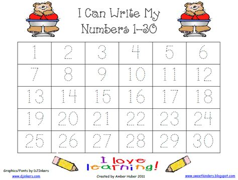 practice writing numbers 1 50 on tracing numbers 1 30