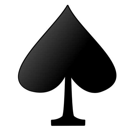 onlinelabels clip art card symbols spade