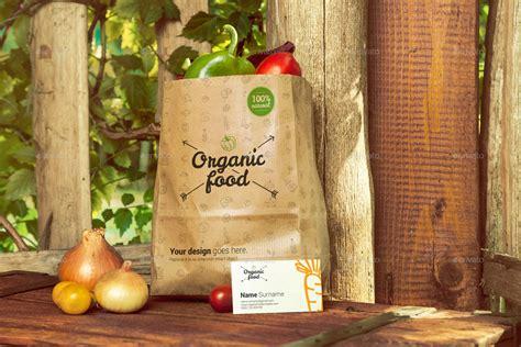 organic food photo mockup vegetables  creativeform