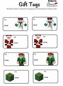 Christmas Tags Minecraft Gift Tags Free Printable