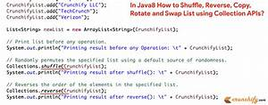 In Java8 How To Shuffle  Reverse  Copy  Rotate And Swap