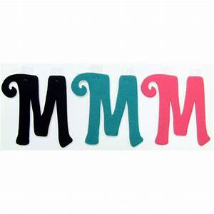 felties script letter with adhesive m pink black blue set With pink adhesive letters