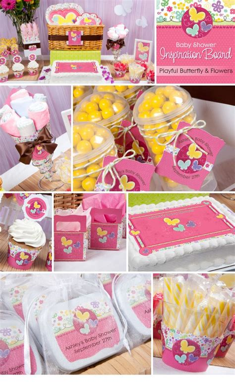 Summer Theme Baby Shower - summer theme ideas pink butterfly and flowers