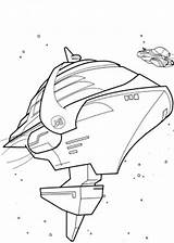 Coloring Spaceship Pages Rock Print sketch template
