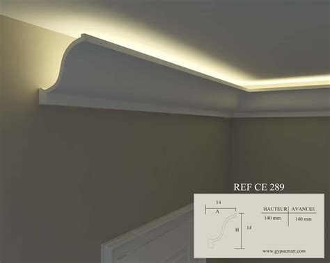 plafond eclairage indirect corniche lumineuse couloir home decor ceiling et decor