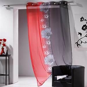 Rideau Voilage Rouge : voilage rouge et gris ~ Teatrodelosmanantiales.com Idées de Décoration
