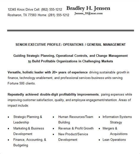 executive resume templates   apple pages