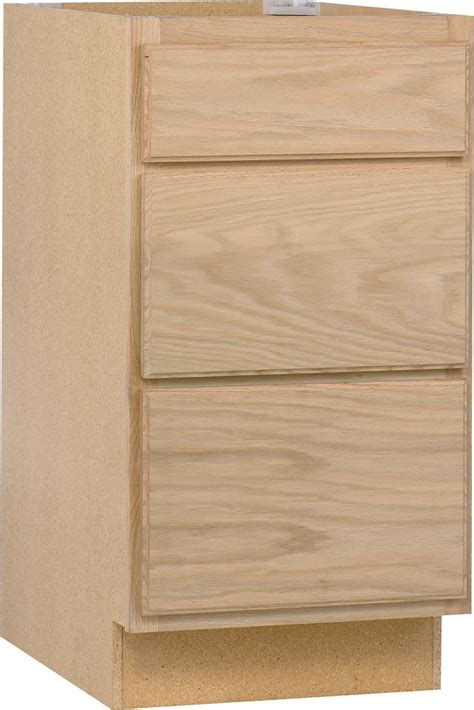 Unfinished Oak Cabinets Home Depot Canada by Unbranded Unfinished Oak 18 Inch Drawer Base Cab The