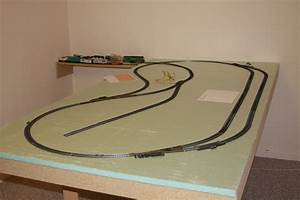 "Mya's First ""Electric"" Train Table HO Scale, 4x8 layout"