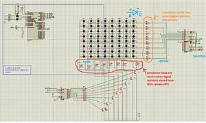 Using Bjt Transistors As Switch For 8x8 Led Matrix Display
