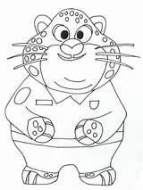 Zootopia Coloring Printable Disney Sheets Clawhauser Colorear Dibujos Imprimir Colorir Ausmalbilder Desenhos Coloriage Cartoon Colorier Dessin Kolorowanki Colouring Dzieci Dla sketch template
