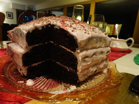 Triple-layer Chocolate Cake With