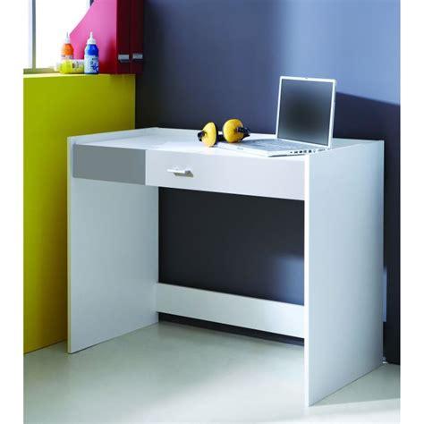 bureau blanc et gris ludique bureau 1 tiroir blanc et gris aucune pickture