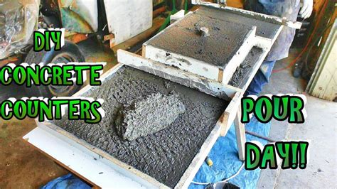 Pour Your Own Concrete Countertops by How To Mix Pour And Finish Your Own Concrete Countertops