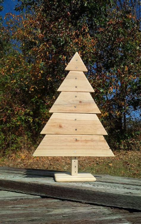 wooden christmas tree recycled pallet wood by woofpackdesignz