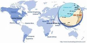 Abu Dhabi Weltkarte