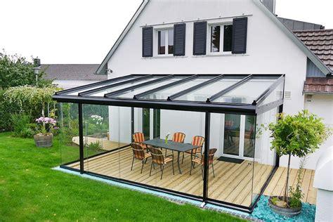 terrassenüberdachung glas alu terrassendach cielo aus alu zum sommergarten ausbaubar