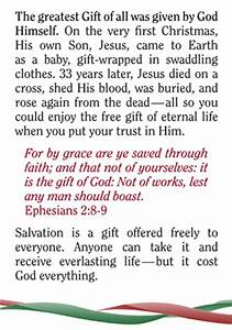 Christmas Gospel Tract The Greatest Gift