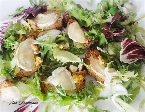 j aime cuisiner salade de chèvre chaud aux noix aux fourneaux