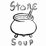 Soup Stone Coloring Pages Clipart Colouring Drawing Printable Many Tgchan Storytelling Club Print Popular Thread Related Getdrawings Clipartmag Coloringhome Getcolorings sketch template