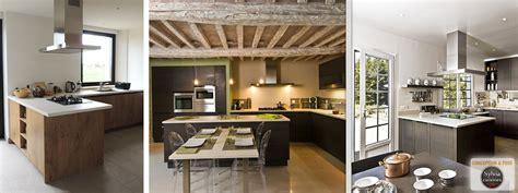 cuisiniste moderne cuisine aménagée bayeux ilot central plan de travail