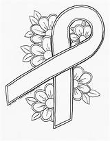 Cancer Breast Ribbon Drawing Pink Coloring Pages Drawings Paintingvalley sketch template