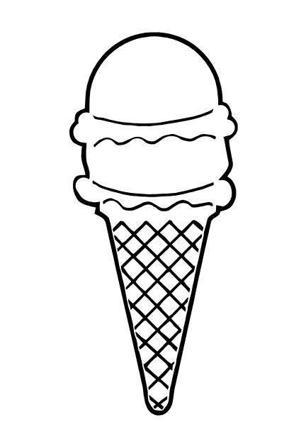 ice cream cone outline clip art  clkercom vector clip