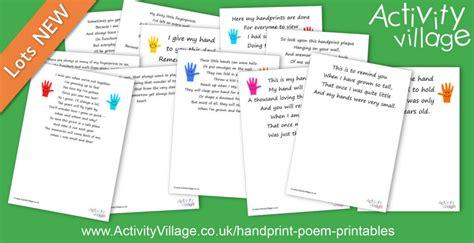 handprint poem printables memory making