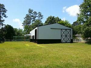 40x60x16 barn with 9x15x12 shed hurricane rated pole With 40x60x16 pole barn