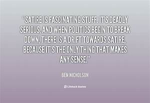 Satirical Quote... Serious Topic Quotes