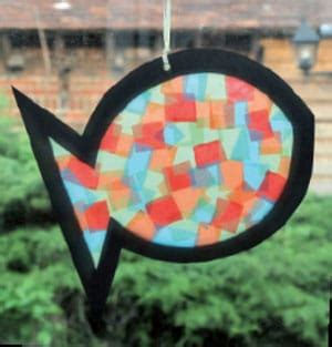 diy fish sun catcher crafts
