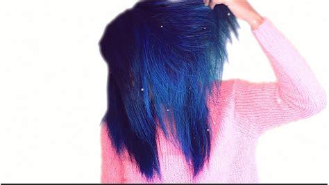 Multicolored Blue Fall Hair Tutorial Using Adore Semi